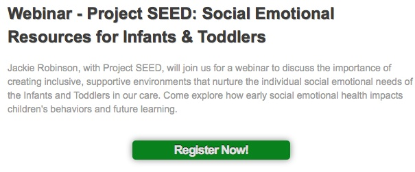 Webinar - Project SEED- Social Emotional Resources for Infants & Toddlers